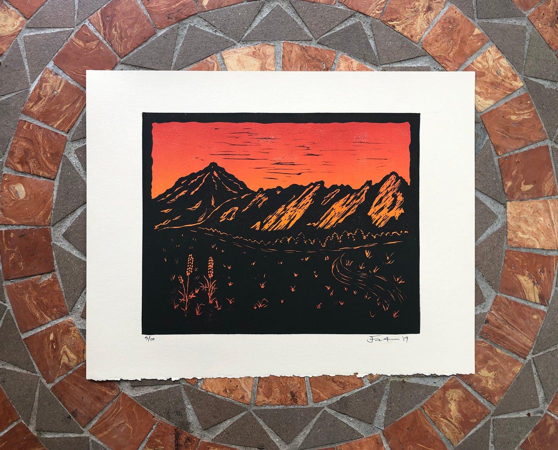 Image of Flatiron silhouette prints