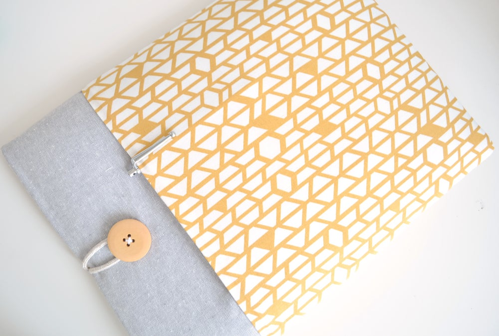 "Image of Yellow and Gray MacBook Air 13"", MacBook Pro Case 15"" Laptop Case, iPad, Tablet, Custom Sizes"