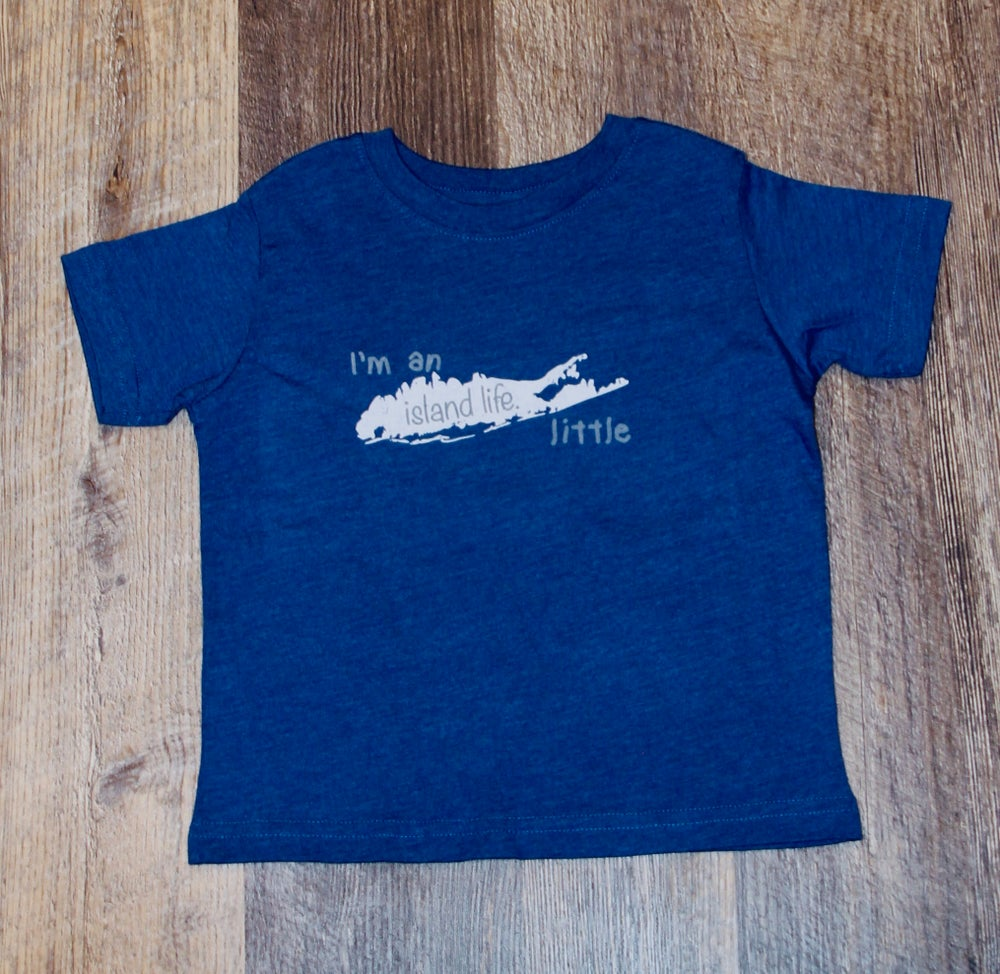 "Image of Toddler Tee ""I'm an island life little"" - Blue"