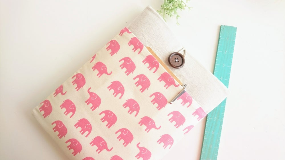 Image of Elephant Tablet Case, Laptop Sleeve, Custom Size Padded Cover