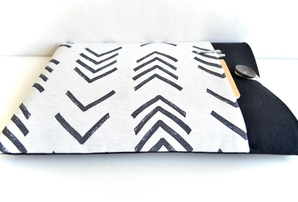 Image of Mud Cloth Arrows Laptop Case, iPad Sleeve, MacBook Air, Surface Pro Custom Fit up to 15.6 inches