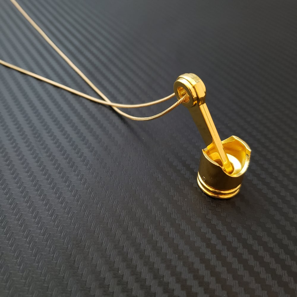 Image of Gold Piston Necklace