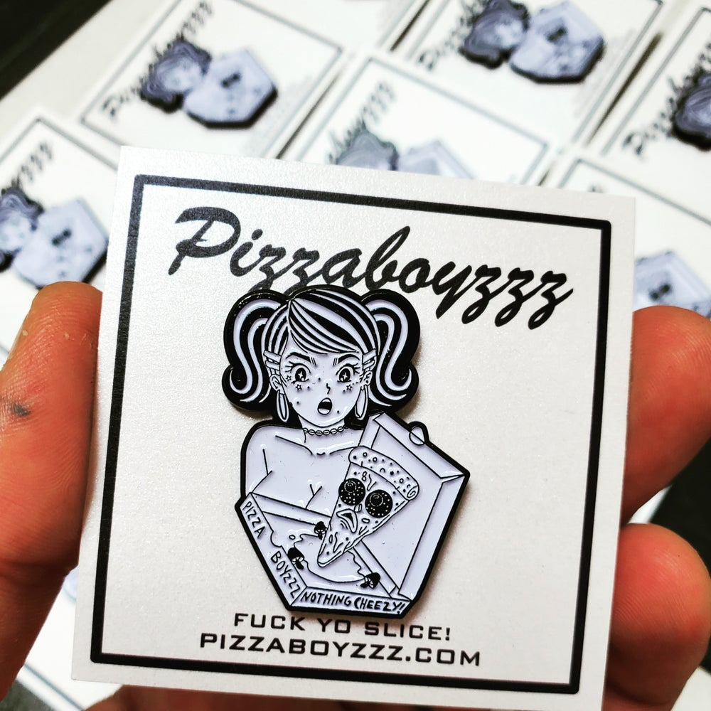 Image of Future fantasy Delight X Pizzaboyzzz lapel pin collab from #NothingCheezy