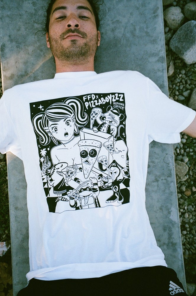 Image of Future fantasy Delight X Pizzaboyzzz  TEE collab from  #NothingCheezy(ONLY 20 MADE)