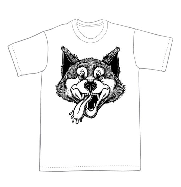 Image of Smiley Wolf T-shirt **FREE SHIPPING**