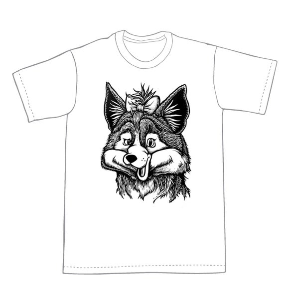 Image of Do you like my bow? Fox T-shirt **FREE SHIPPING**