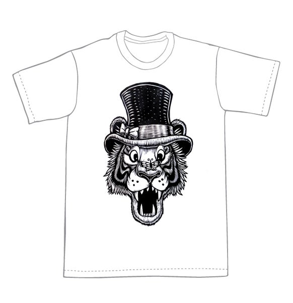 Image of The Ringmaster Tiger T-shirt **FREE SHIPPING**