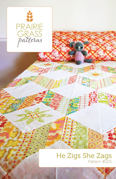 Image of He Zigs She Zags Paper Quilt Pattern
