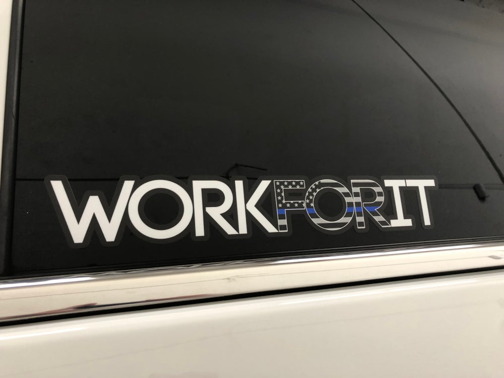 Image of THIN BLUE LINE WORKFORIT DECAL