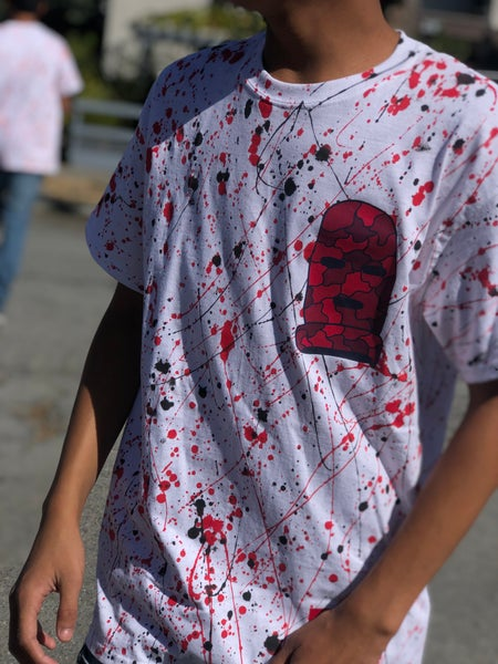 Image of Red Camo Ski Mask Tee