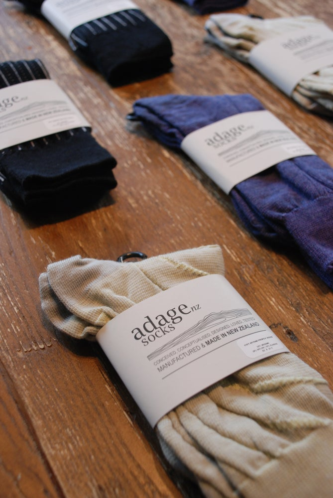 Image of Vertical Double Rib - Merino Blend Dress Socks