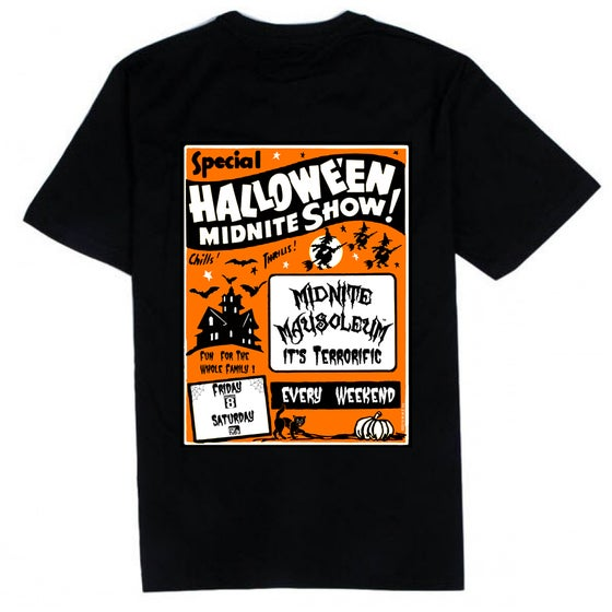 Image of Midnite Mausoleum 2019 Retro Halloween Shirt