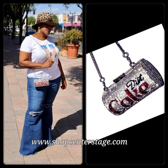 Image of Blinged diet coke bag