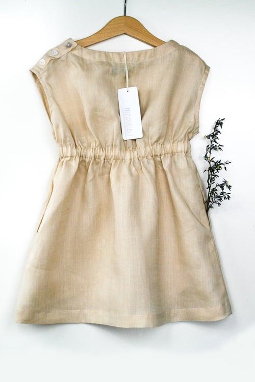 Image of Vintage Lola Linen Dress - Caramel