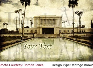 Image of Mesa Arizona LDS Mormon Temple Art 001 - Personalized LDS Temple Art