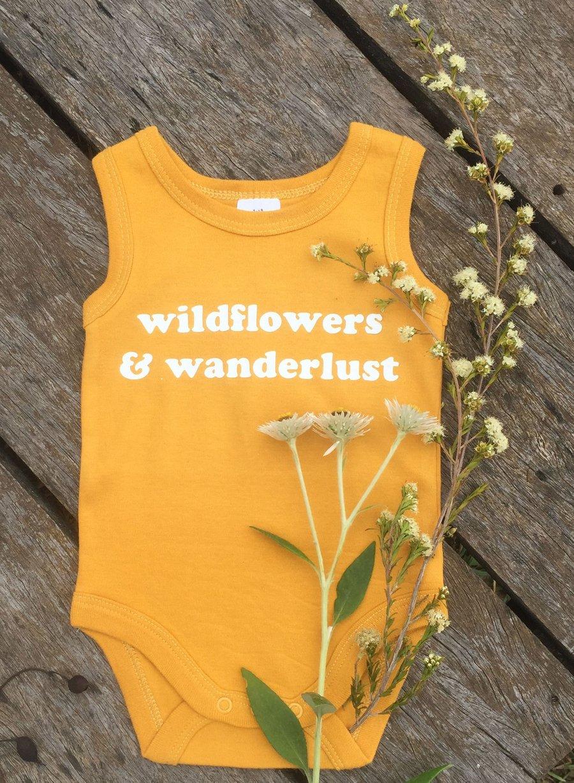 Image of Wildflowers & Wanderlust Onesie - Sunny