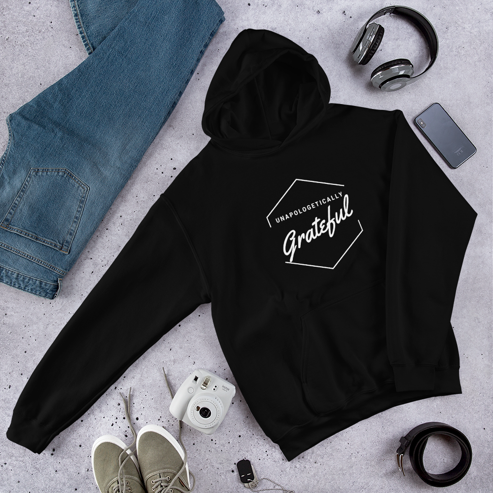 Image of Unapologeticallay GRATEFUL Hoodie (Black)