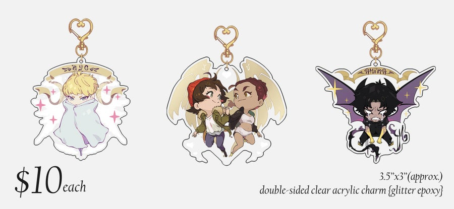 Image of ✧Devilman Crybaby Charms✧ {GLITTER EPOXY}