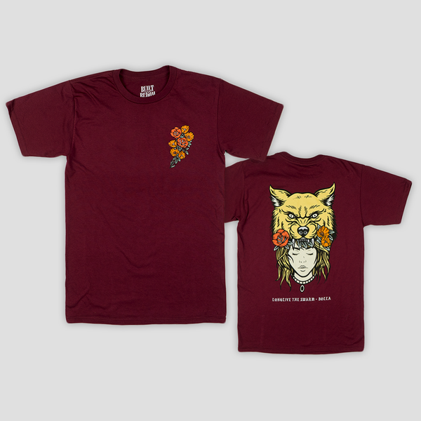 Image of DUALITY TEE (BURGUNDY)