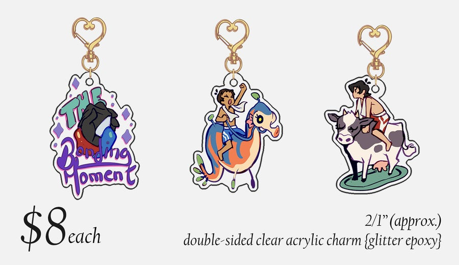 Image of ✧Klance Charms✧ Voltron {GLITTER EPOXY} SOLD OUT