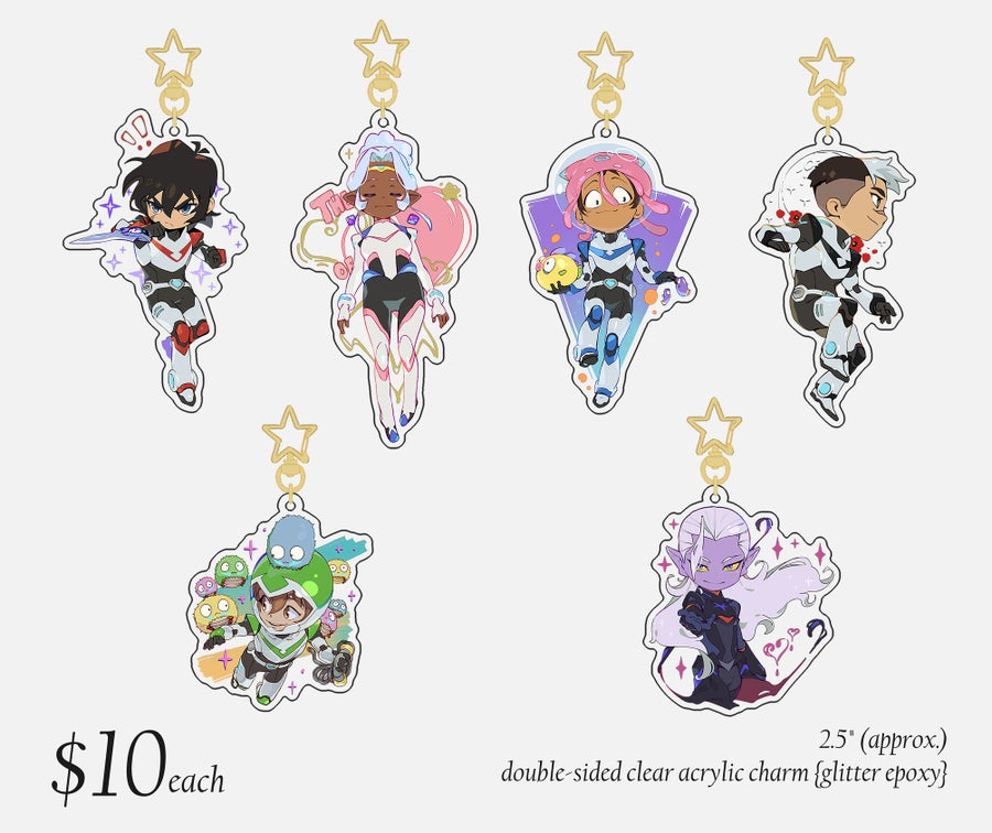 Image of ✧Voltron charms✧ {GLITTER EPOXY}