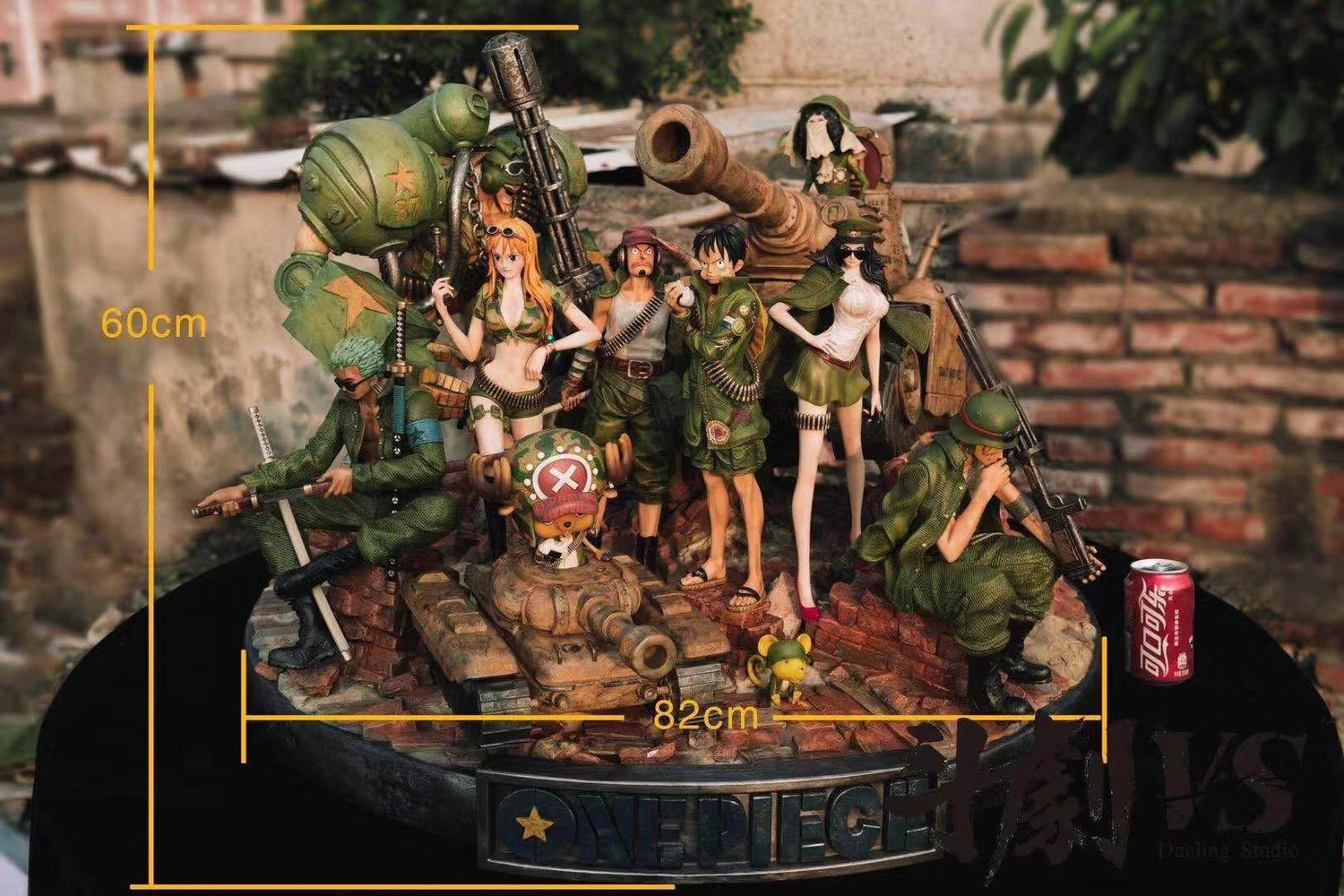 Image of [Pre-Order]One Piece Dueling Studio Military Straw Hat Set Resin Statue