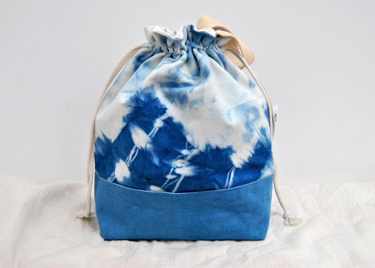 Image of Naturally Dyed project bag - Indigo Sea