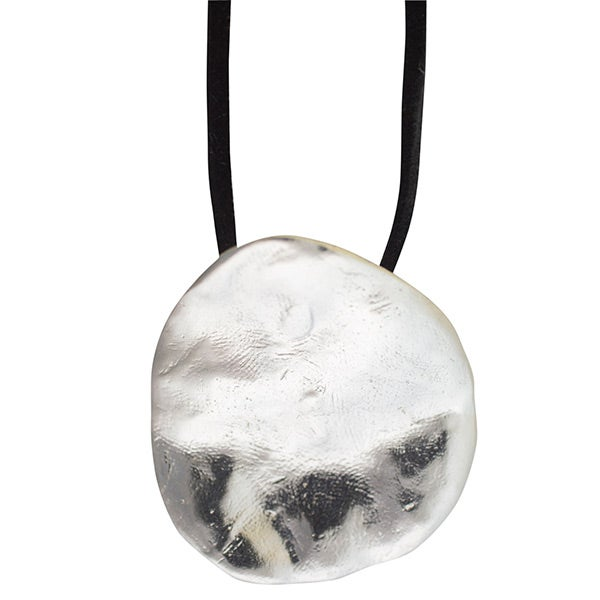 Image of Sterling silver big disc Necklace