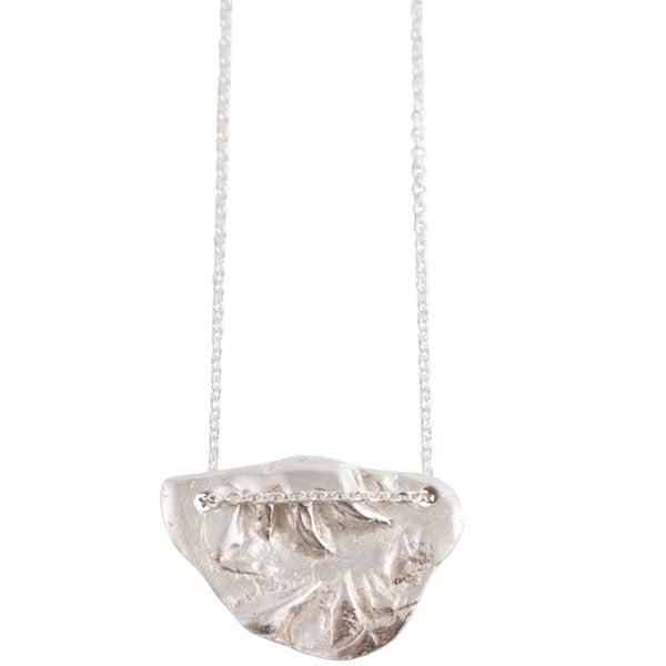 Image of Tesoro half moon handmade necklace