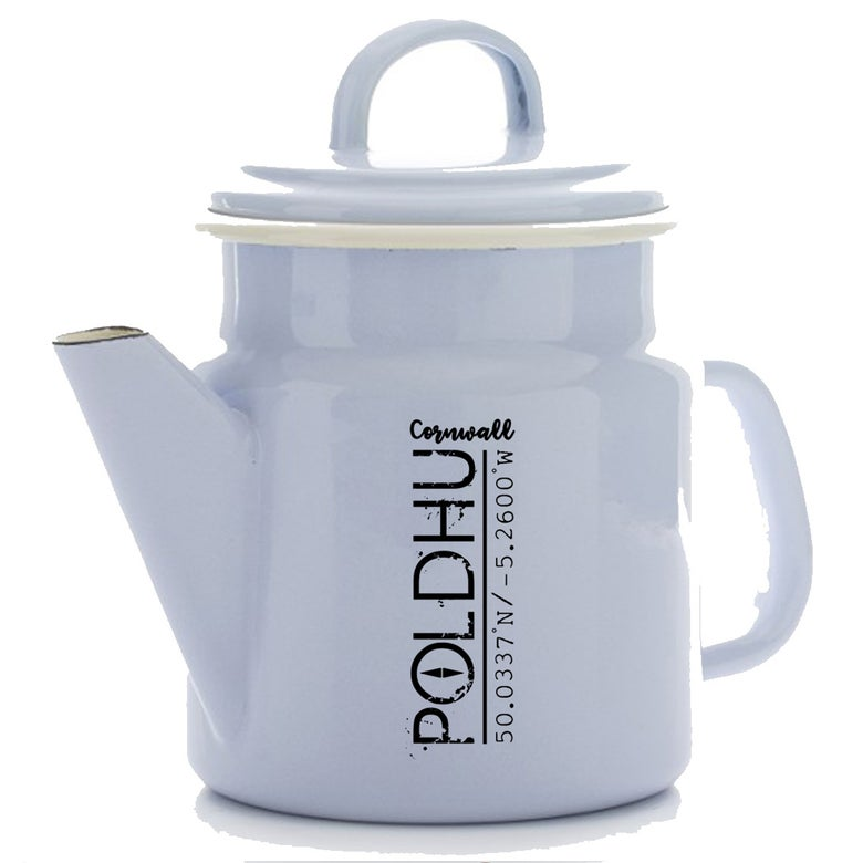 Image of POLDHU Vintage Tea/Coffee Pot - PALE BLUE