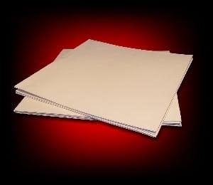 Image of 10 Pochettes carton pour 33 Tours [blanc/sans fenêtre]