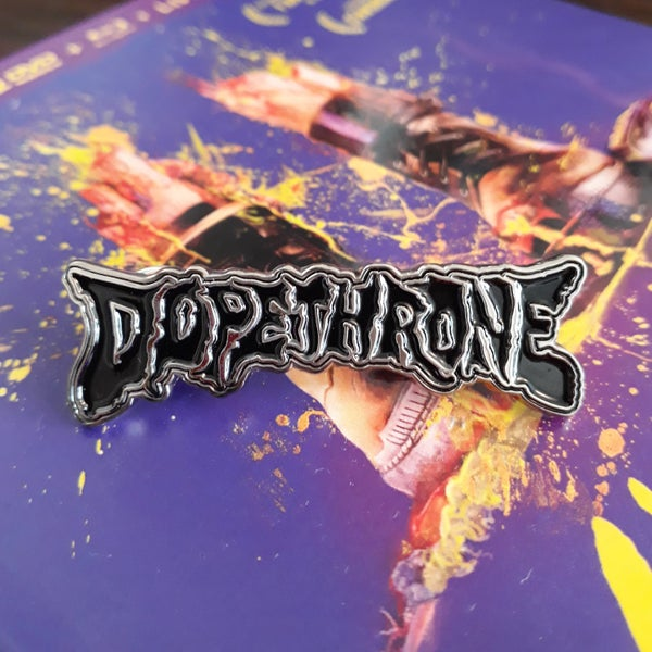 Image of DOPETHRONE ENAMEL PIN