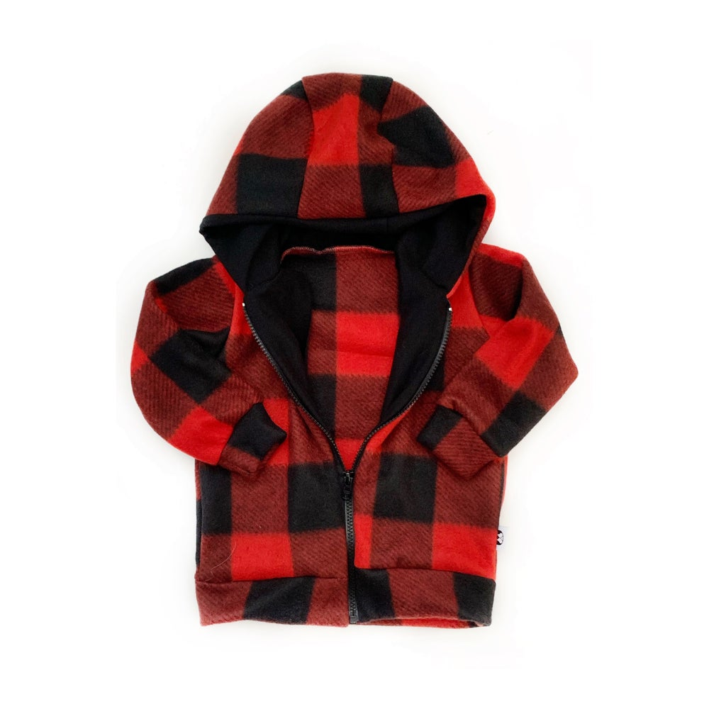 Image of Limited Edition Red Plaid Fleece Mini Bomber