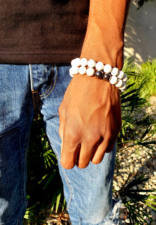 Image of Calm Energy Set | Howlite | Hematite | Calming | Positive | Awareness | Power | Strong