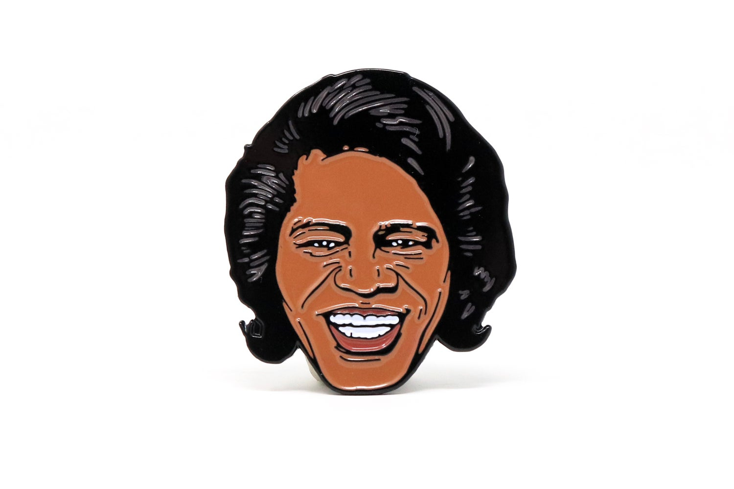 Image of James Brown Head Enamel Pin