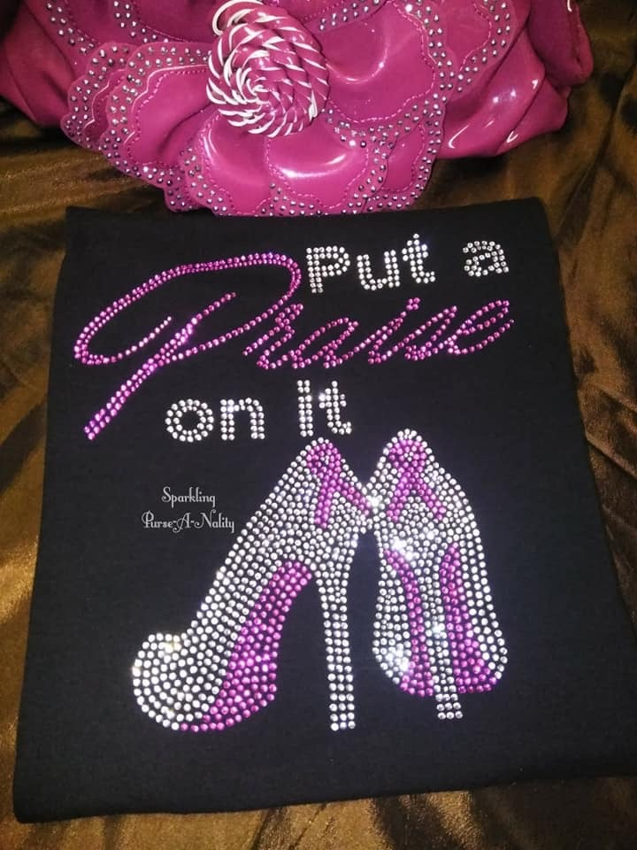"""Image of """"Sparkling"""" Put A Praise On It BC Awareness"""
