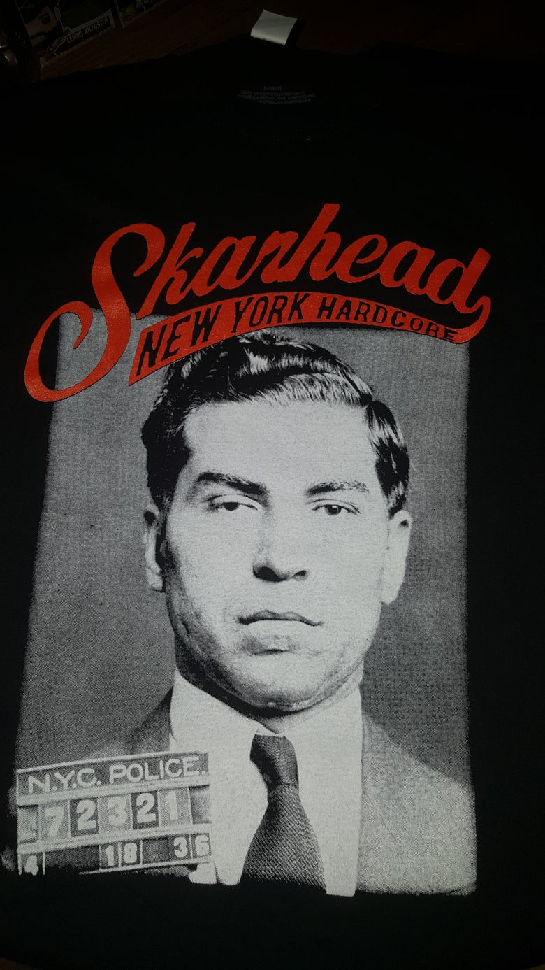 Image of SKARHEAD LUCIANO KINGS AT CRIME T SHIRT (IN STOCK)