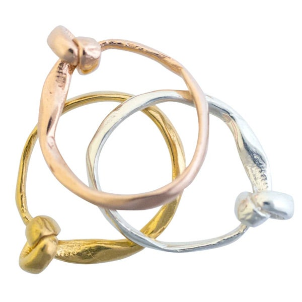 Image of Layla small knot stacking ring