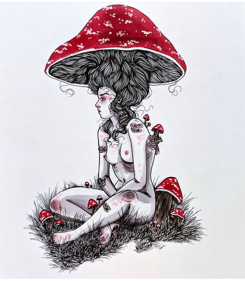Image of Mushroom babe commission