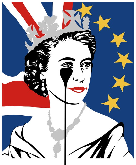 "Image of PURE EVIL ""BREXIT NIGHTMARE"" - 5 COLOUR SCREENPRINT - LTD ED 100 - 70CM X 85CM"