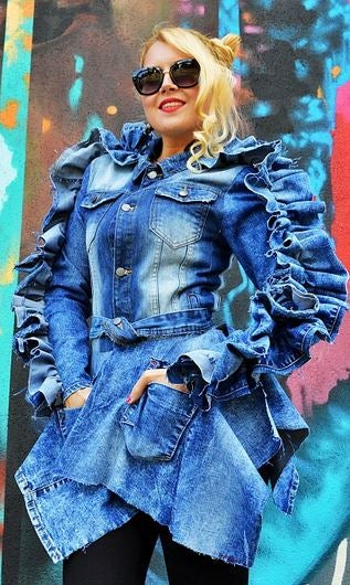 Image of Ribbon In The Sky- Denim Jean Jacket  Pre-Paid Pre Order ONLY