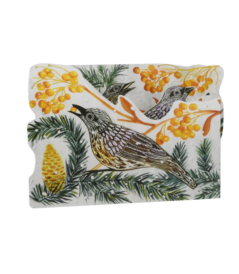 Image of Autumn Fieldfare Tri-fold
