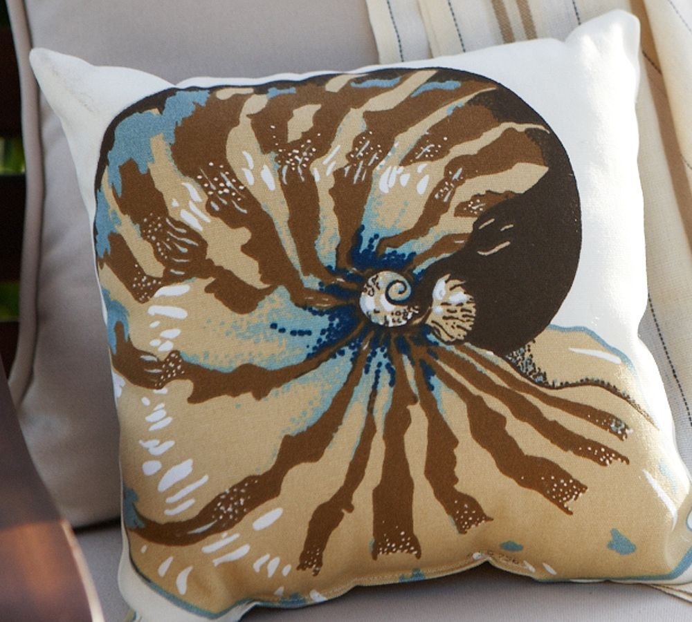 Fabric Freak Ff Nautilus Shell Outdoor Fabric Pillow