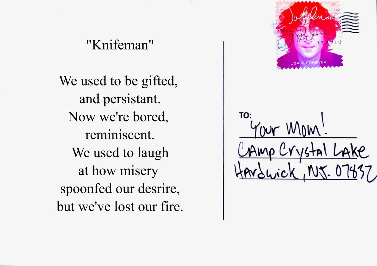 "Image of Postcards from hell - ""Knifeman"""