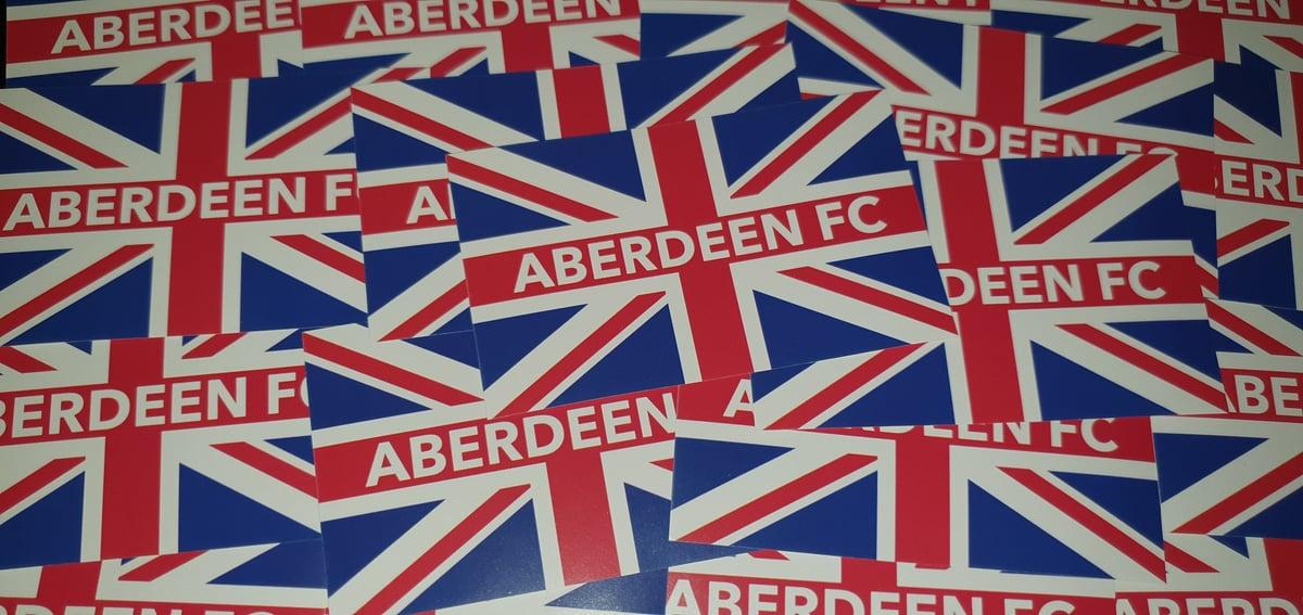 Aberdeen British football ultras stickers. 10x6cm stickers. Pack of 25.