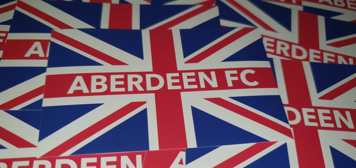 Aberdeen British football ultras stickers. 10x6cm stickers. Pack of 25.