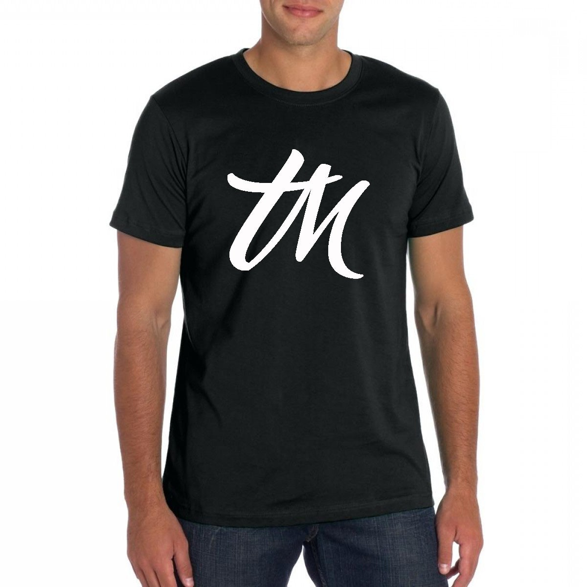 Image of Mens TM Logo Shirt Black | White