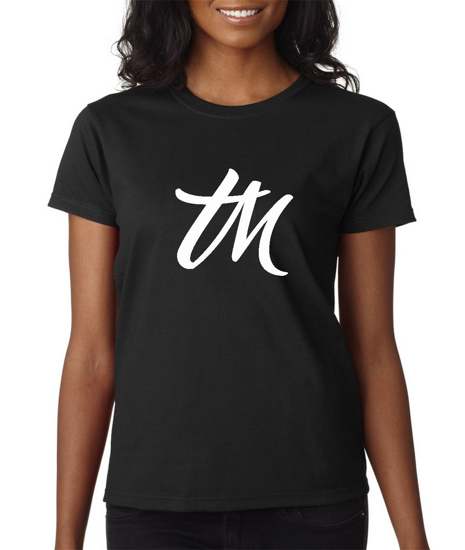 Image of Womens TM Logo Shirt Black