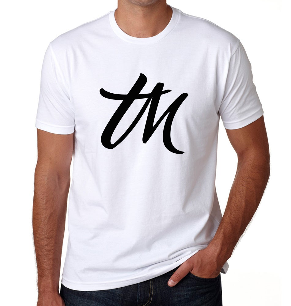 Image of Mens TM Logo Shirt White