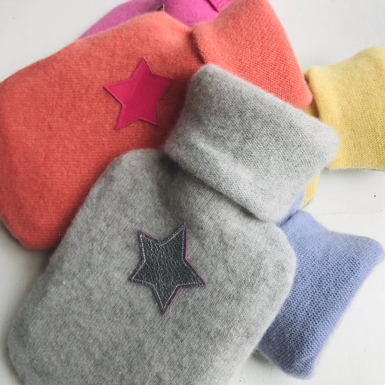 Image of Pure Cashmere Mini Star Hot Water Bottle